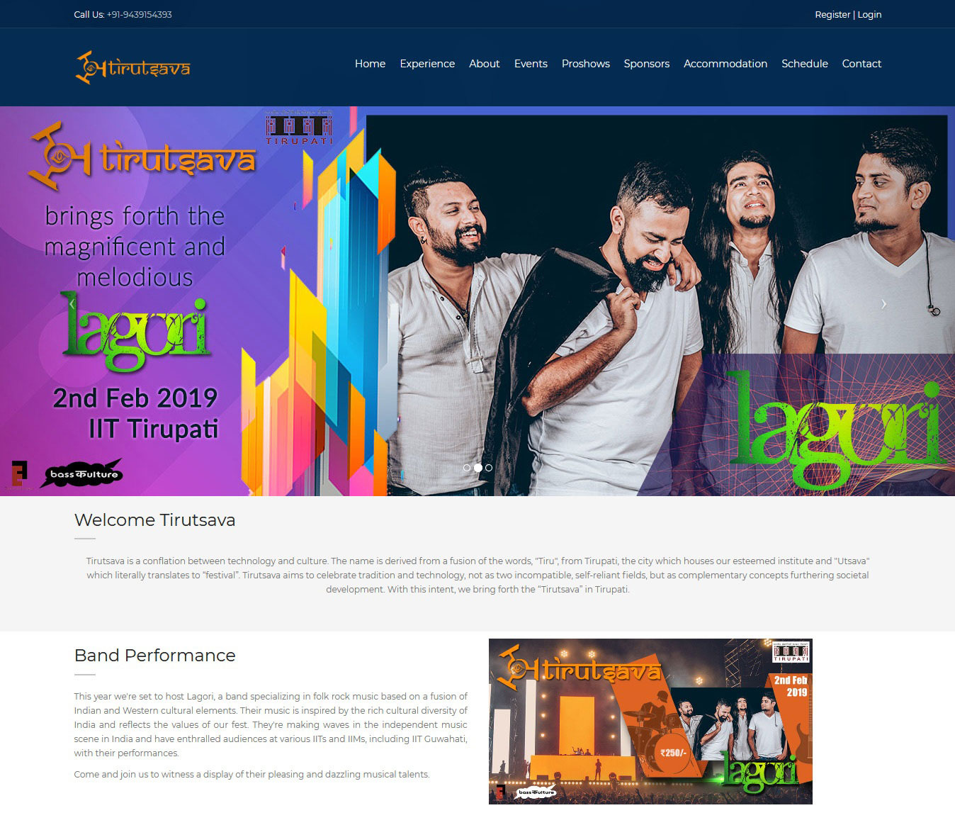 Website development for IIT Events
