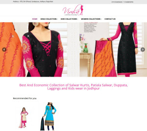 Website development for Fashion Store