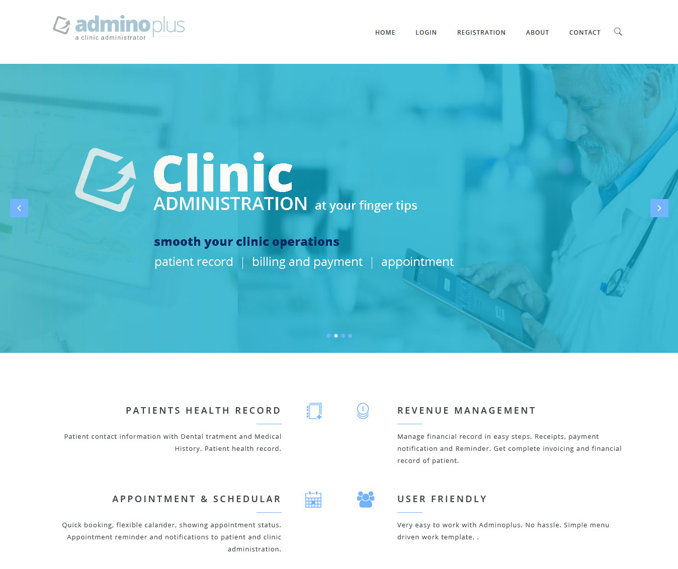 Website development for Clinic Management