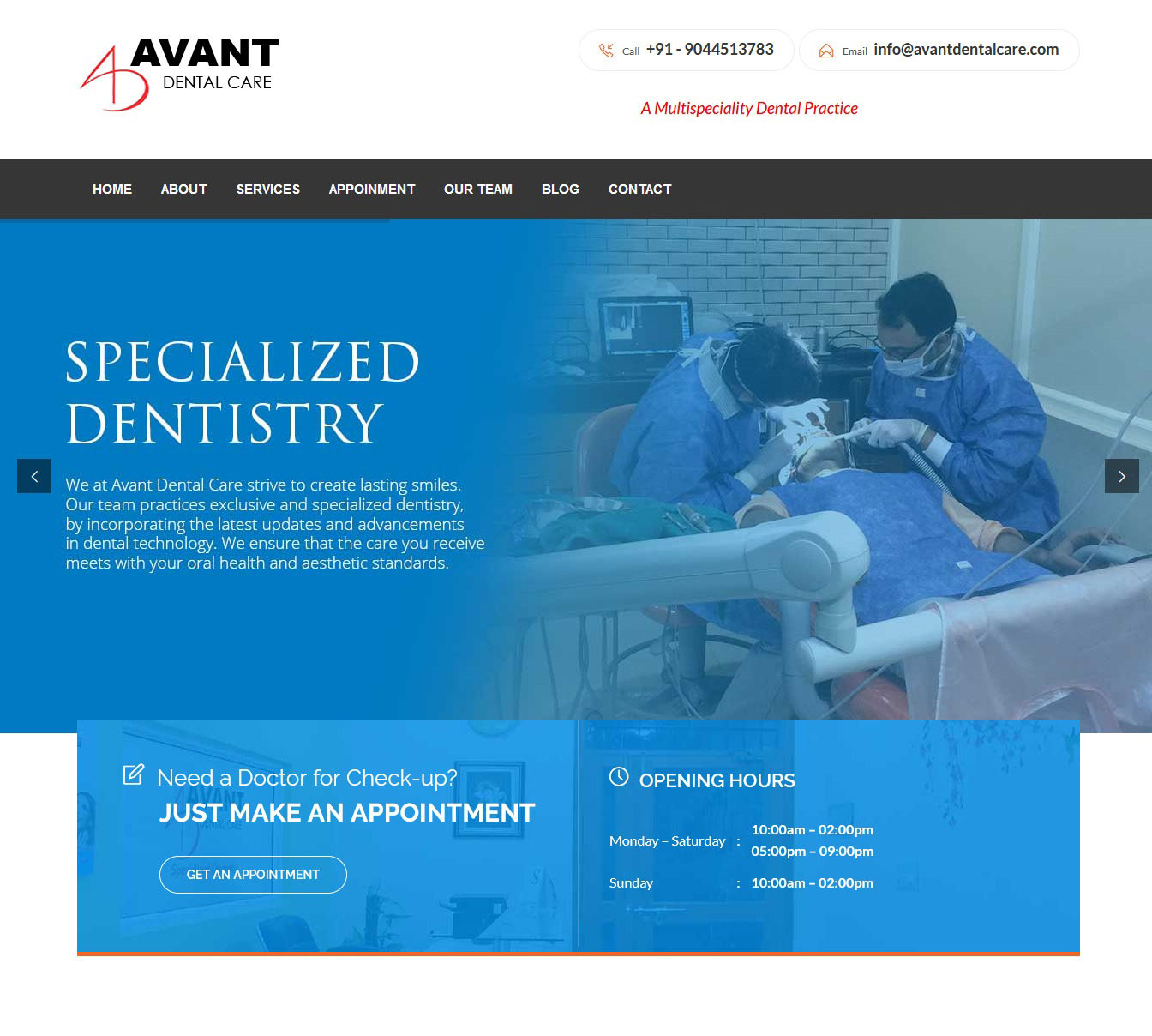 Website development for Dentist