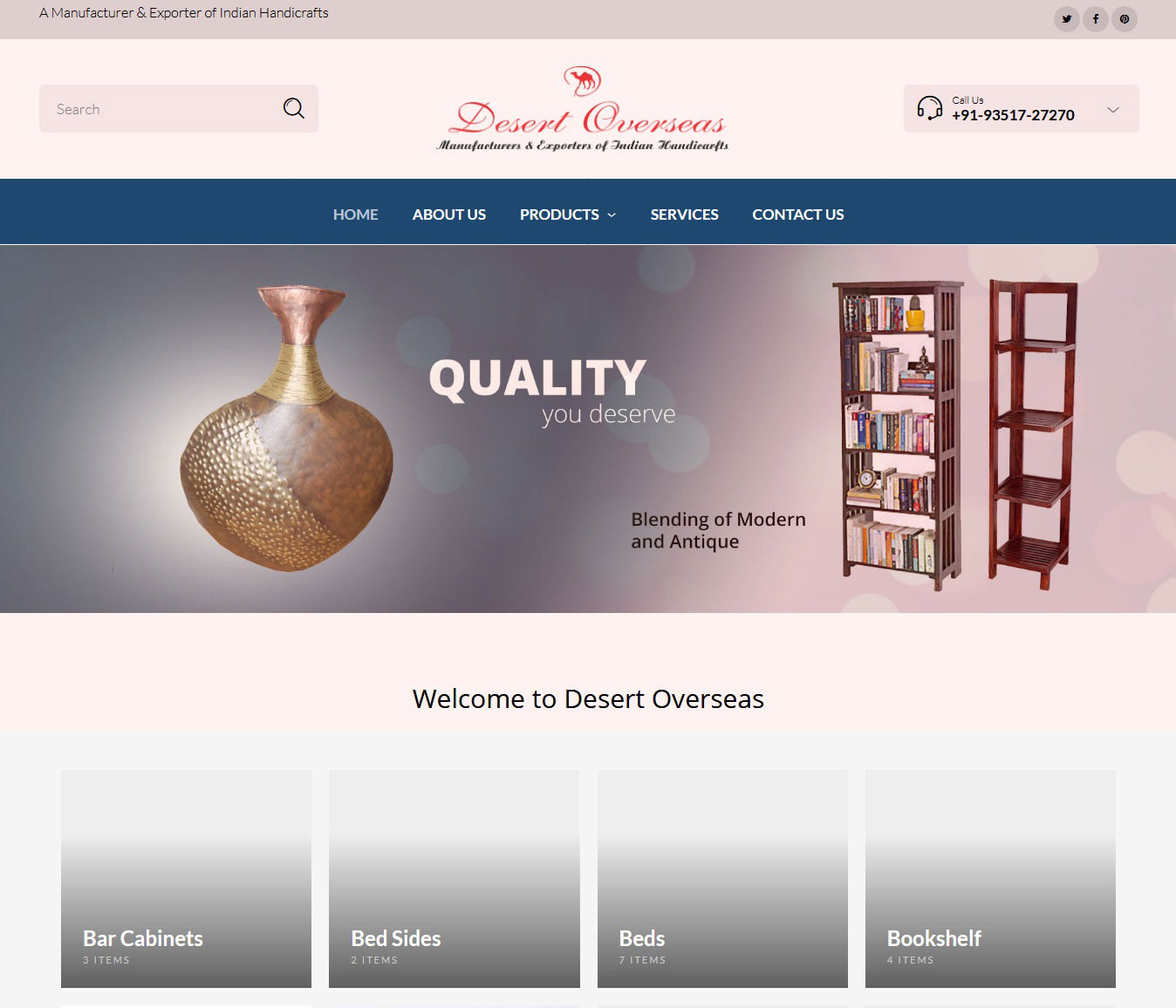 Website development for Handicraft