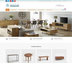 Website development for Handicrafts